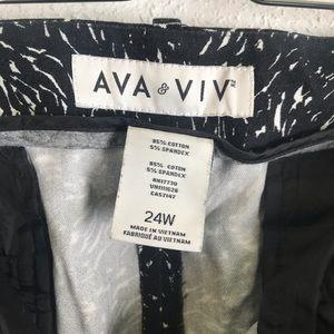 a16f1f865afb7c Ava & Viv Pants   Ava Viv Skinny Black White Printed Stretch   Poshmark